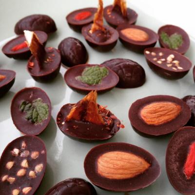 dairy and refined sugar free homemade chocolate