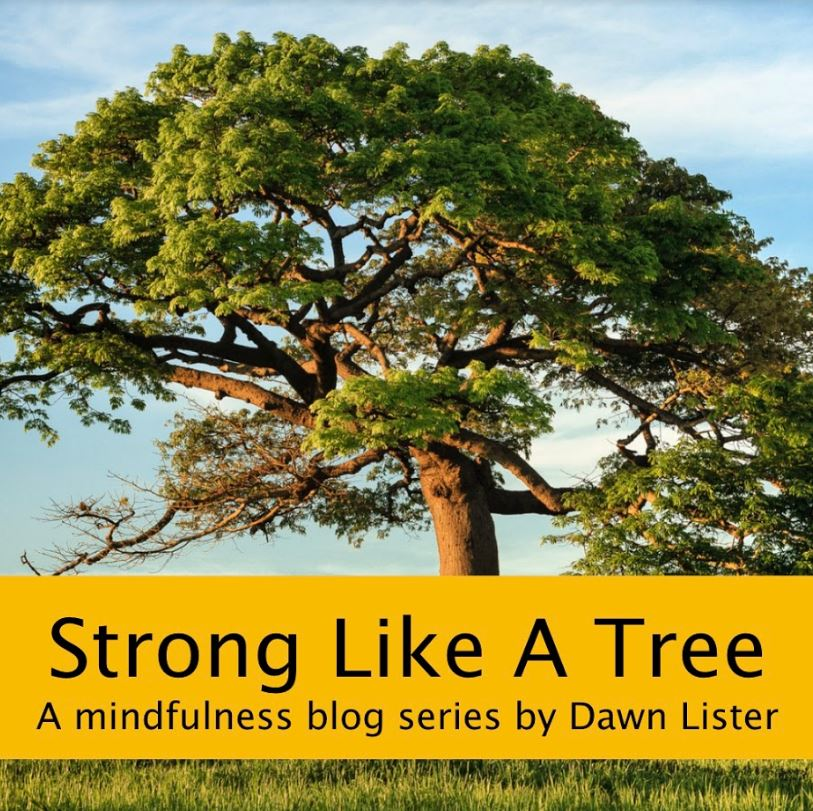 tree image with banner reading 'strong like a tree'