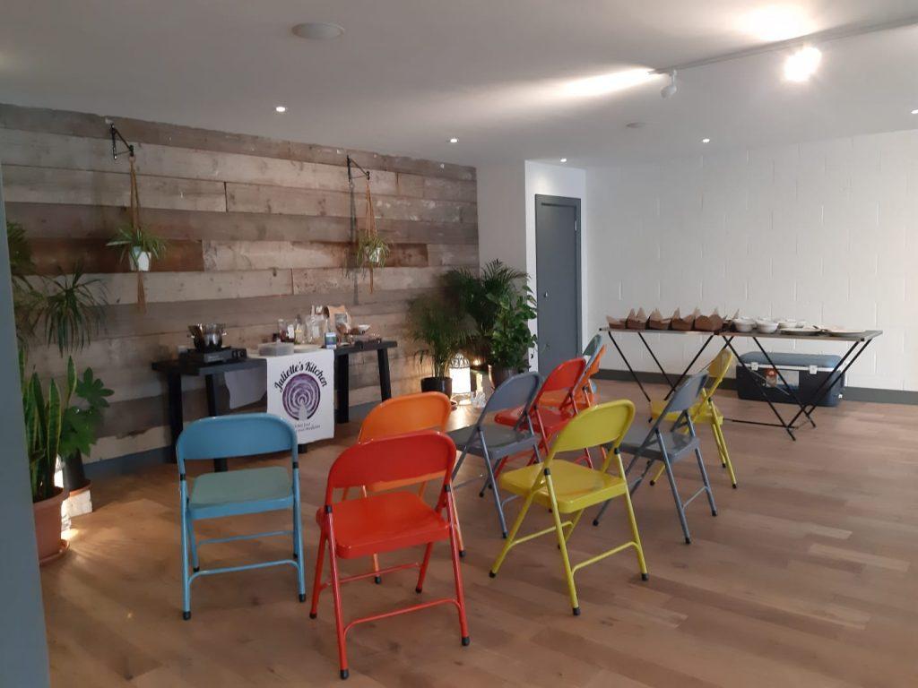 cacao workshop set up