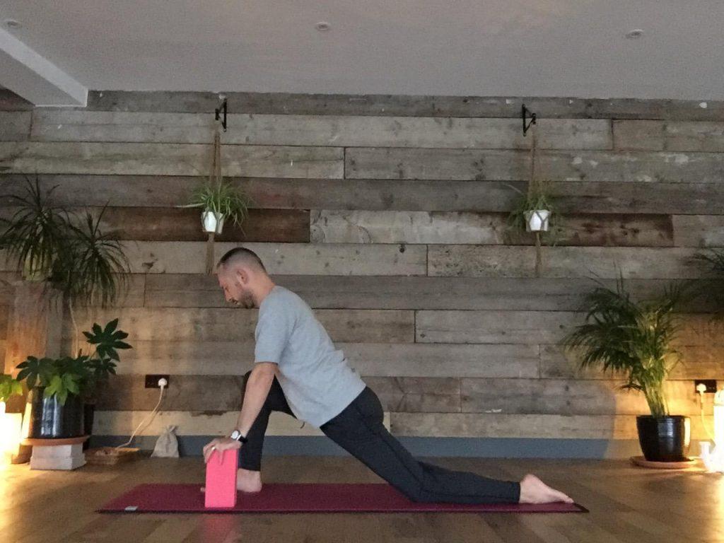 Daniel Groom demonstrating low lunge