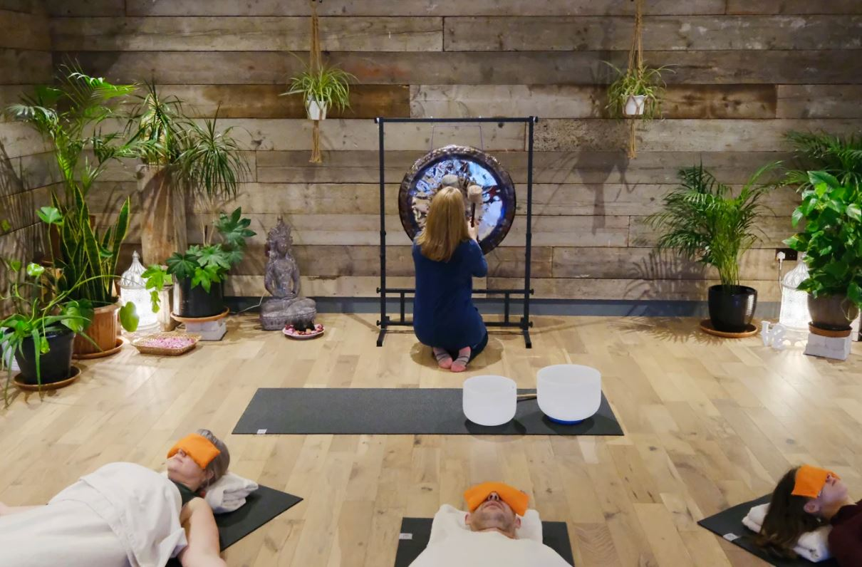 image of a gong in Anahata Yoga Centre
