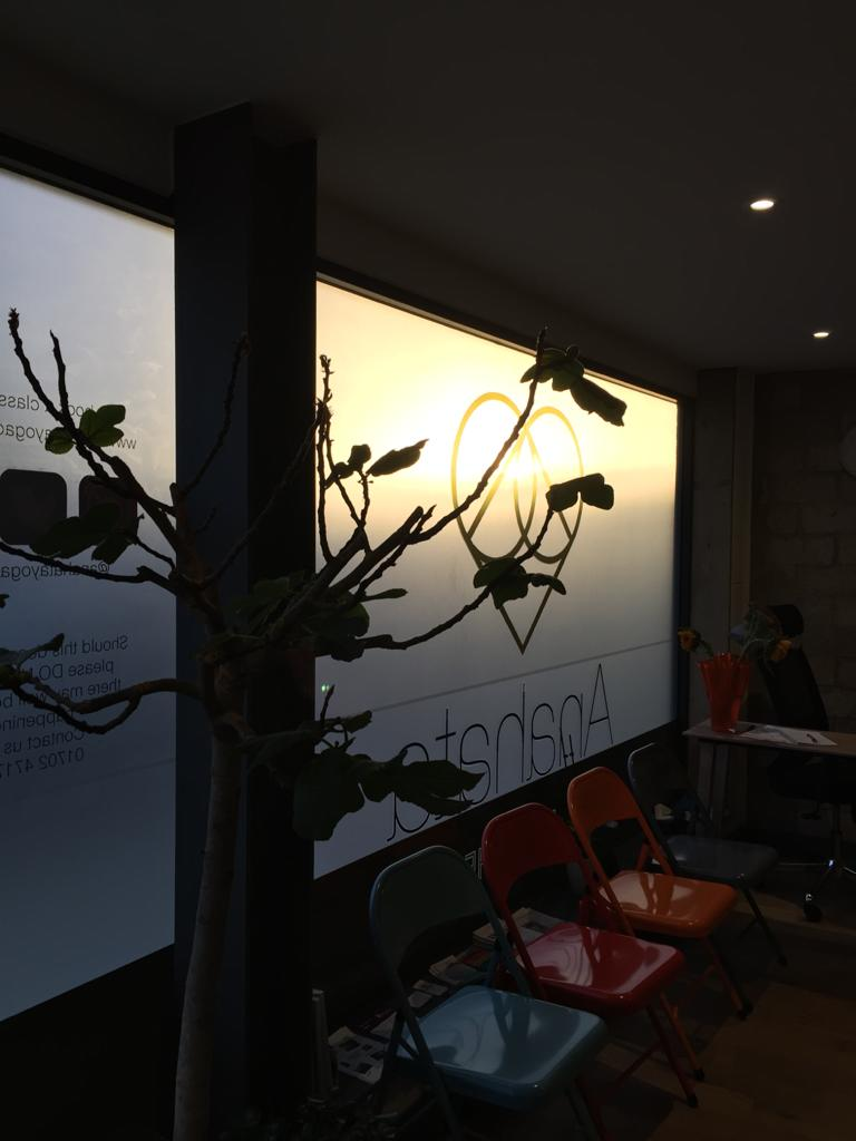 Interior of Anahata Yoga Centre, Southend-on-Sea